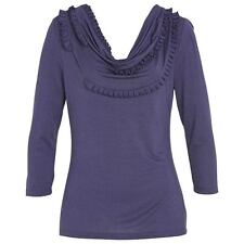 new RRP $70 JACQUI E COWL NECK STRETCH TOP BLOUSE XL  more sz in store