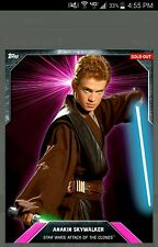 topps card trader ANAKIN SKYWALKER star wars PINK LASER BURST digital 251c AWARD