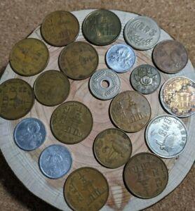 Vintage Old Korea Coin Lot❷ 50 Hwan Bus Token 1 Won 10 Won