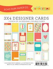 Echo Park - Sweet Summertime Memos 3x4 Designer Cards 24/pk Journaling Planner