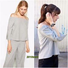 41c2519b5f7fec Zara Off-the-Shoulder Casual Tops   Shirts for Women