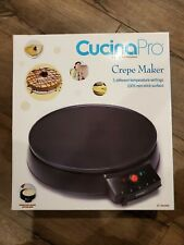 New CUCINAPRO Electric GRIDDLE & CREPE MAKER w Aluminum Plate & Batter Spreader