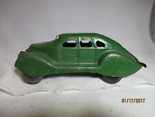 EXTREMELY RARE   1930'S MARX PRESSED STEEL  MYSTERY CAR. IT STILL WORKS. NEEDS W