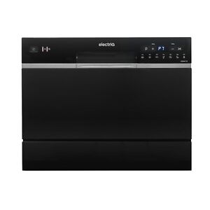 electriQ Table Top Dishwasher - Black