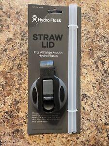 HYDRO FLASK STRAW FLIP LID 16 18 32 40 64oz WIDE MOUTH WATER BOTTLE Black & Gray