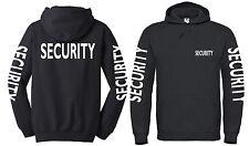"""Hoodie """"SECURITY"""" Gr. S bis 4XL ; Brust+Rücken+Ärmeldruck, Wachschutz, Türsteher"""