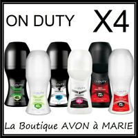 4 X ON DUTY Déodorants deo bille ANTI-TRANSPIRANT AVON: 48H ou 72H de PROTECTION
