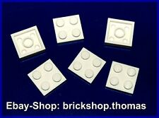 Lego 6 x Platten weiß 2 x 2 - 3022 - Plate White - NEU / NEW