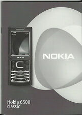 NOKIA 6500 CLASSIC MANUAL – INSTRUCTIONS – CELL PHONE - TELEPHONE
