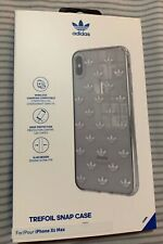 Adidas Trefoils Logo Case for iPhone XS MAX - Clear / Silver