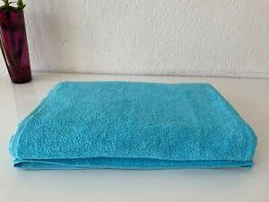 """100% Cotton Extra Large Oversized Bath Towel Turquoise Blue Bath Sheet 40x80"""""""
