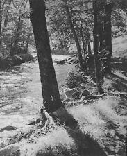 c1935 anonyme bord de rivière tirage argentique Vallée du Célé ? LOT 46 FIGEAC