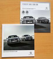 2147) Prospekt brochure 2014 Peugeot 508 + Preisliste 2016 - 508 / 508 SW Prices