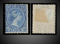 1894 FALKLAND ISLANDS 2.5 P. MINT H. - WMK 2 DEEP BLUE OR ULTRA SCT. - 14 OR 15