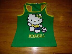 Women's Hello Kitty Brasil Soccer Tank Top Sz Med Green