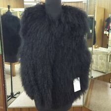 SALE NWT Belle Fare Black Tibetan Lamb Fur Vest