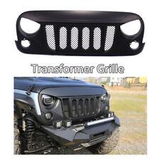 TRANSFORMER Bumper Front Grille Matte Black w/ Mesh for Jeep Wrangler JK 07-17