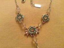 Delicate Designed Necklace by 1928.Vintage Design. Crystal.Enamel.Diamante.