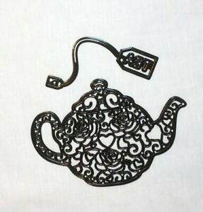 Teapot with Teabag Die Cut Embossing Stencils - All Proceeds to MacMillan