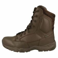 Scarpe da uomo stivali militari marrone 100% pelle