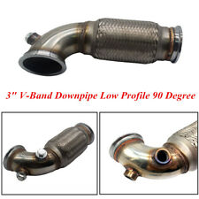 3'' V-Band Downpipe Low Profile 90 Degree Bend with Flex Bellow Pipe Stainless