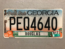 ONE GEORGIA LICENSE PLATE PEACH STATE 🍑 RANDOM LETTERS/NUMBERS CRAFT GRADE!!!