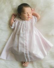Nwt Feltman Bros Brothers Pink Smocked Daygown Lace Dress Newborn Baby Girl
