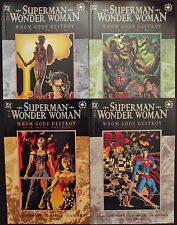 SUPERMAN WONDER WOMAN WHOM GODS DESTROY 1,2,3,4 ...NM-...1996...Bargain!