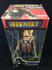FUNKO IRON MAN 2 WHIPLASH SILVER BASE CHASE GITD WACKY WOBBLER BOBBLE HEAD NEW