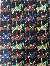 Argyle Horses English Rider Silk Tie By J Riggings