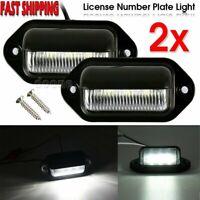 2x LED License NUMBER PLATE LIGHT TRUCK TRAILER VAN UTE CARAVAN 10-30V Chrome dm