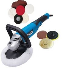 SILVERLINE 180MM 1200W CAR POLISHER SANDER POLISHING MACHINE BUFFER + EXTRA PADS