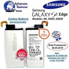 Batteria Samsung Galaxy S6 EDGE G925f 2600 mAh 3,85V EB-BG925ABE Originale