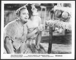 Douglas Fairbanks Maria Alba Original Photo Mr. Robinson Crusoe R1953