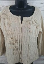GARNET HILL Wool Cardigan Sweater Women's Size Medium