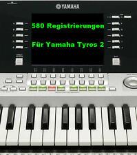 Yamaha Tyros 2 580 Registrierungen