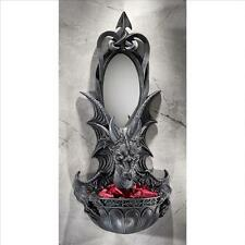 Cl4481 - Grinsthorpe Castle Dragon Offering Wall Sconce w/ Mirror!