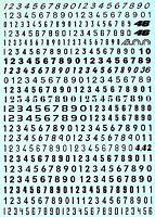 Startnummern Zahlen schwarz Start Numbers black 6,0 mm 1:32 Decal Abziehbi