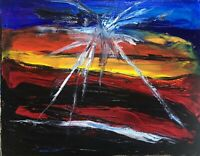 """Murderous Crows, """"Donna's Demise"""" Death Of A Cuz,  Original Oil Painting Canvas"""