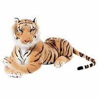 BRUBAKER Brown Plush Tiger - 28 Inch - Stuffed Animal Soft Toy