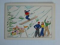 Carta Spedizione Incisione Antica Colorato A Stencil Firmato Marcel Bloch C 1930