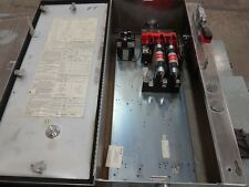 Cutler Hammer 100 Amp Fused Disconnect Switch Stainless