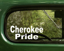 2 CHEROKEE STICKERs Native American Decal for Car Truck Rv Laptop Bumper Window