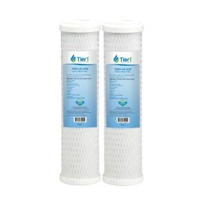 10x2.5 Inch 0.5 Micron Pentek CBC-10 Comparable Carbon Block Water Filter 2 Pac