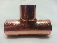 1 Copper Tee T Sweat Solder Pressure Fitting Fits Standard Plumbing Copper New