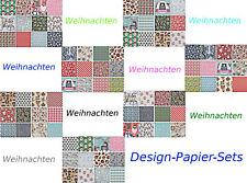 Design-Papier-Sets Weihnachten Motivpapier - ( €0,08/Blatt ) - basteljulchen-de