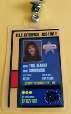 Star Trek Id Badge - Enterprise 1701E Commander Deanna Troi Cosplay prop costume