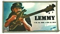 MOTORHEAD - R.I.P. Lemmy - Tribute Printed Patch Grey Stitching Aufnäher Parche