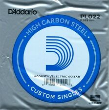 D'ADDARIO PL022 Plain sfera di acciaio fine singola stringa di chitarra. acustica o elettrica