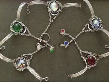 15  NEW SILVER ALPACA BRACELETS  WITH RING ATTACHED